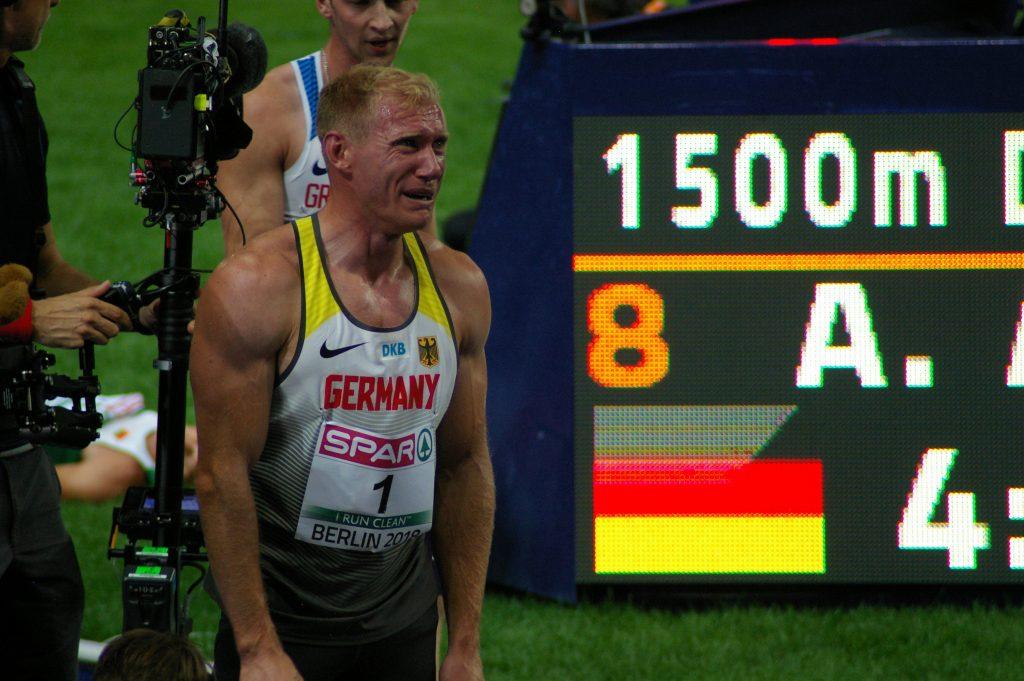 Arthur Abele in tears